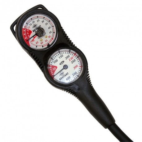 3 ELEMENTS GAUGE - Depth gauge + Compass + Pressure Gauge