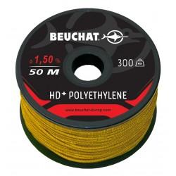 BOBINE 50M Polyéthylène HD+ 1,5mm 300Kg Jaune